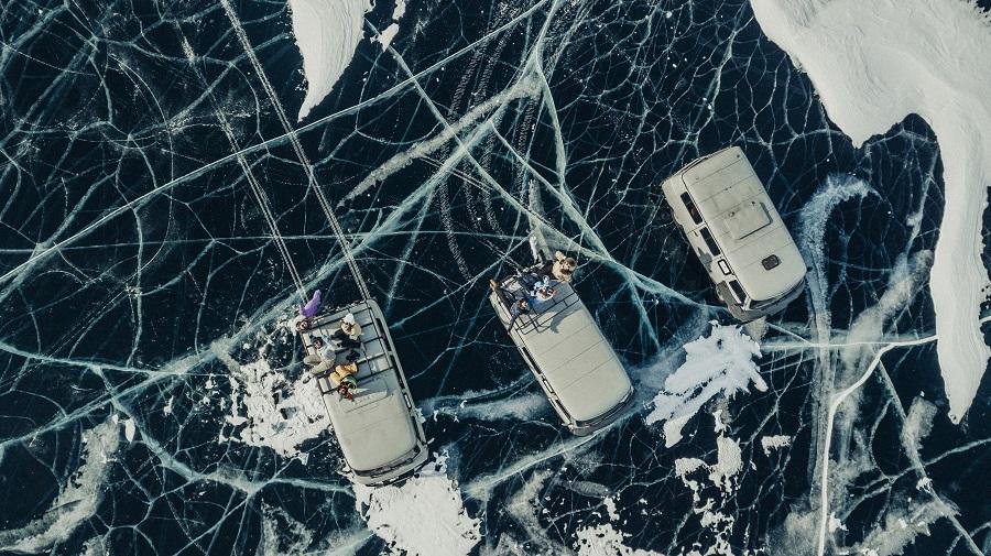 Байкал, зима, Байкальский лёд, новый год 2021